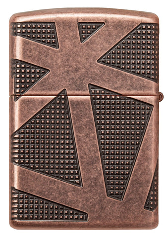 Back view of Armor® Geometric 360 Design Windproof Lighter
