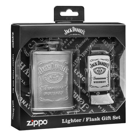 Jack Daniel's Flask & Lighter Gift Set