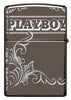Playboy Laser 360 Design Black Ice windproof lighter showing the back