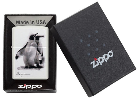 Spazuk Penguin design windproof lighter in packaging