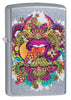 Psychedelic Lip Design Street Chrome Lighter facing forward at a 3/4 angle