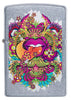 Front of Psychedelic Lip Design Street Chrome Lighter