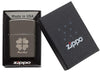 Good Luck Design Black Ice Windproof Lighter in packaging
