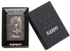 Skull Mountain Black Ice Windproof Lighter in packaging