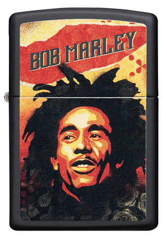 Bob Marley black matte windproof lighter- standing facing the forward
