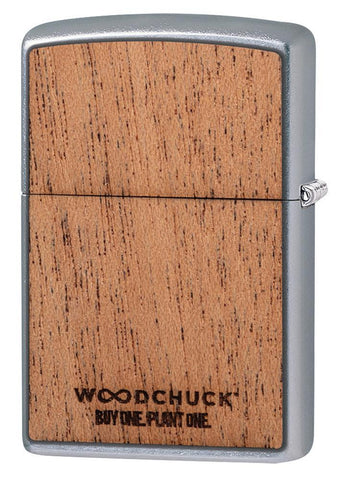 WOODCHUCK USA Explore Design Windproof Lighter facing backwards at a 3/4 angle