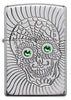 Front of Armor Sugar Skull Design High Polish Chrome Windproof Lighter