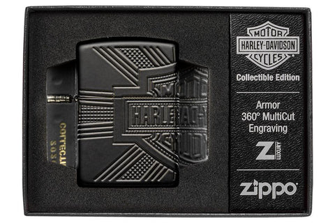 Harley-Davidson® 2020 Collectible Windproof Lighter in Harley-Davidson® themed luxury packaging