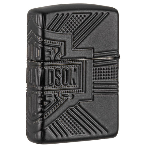 Back of Harley-Davidson® 2020 Collectible Windproof Lighter standing at a 3/4 angle