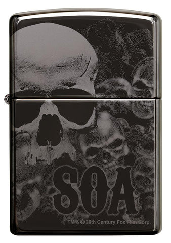 Sons of Anarchy Black Ice 360 design windproof lighter facing forward