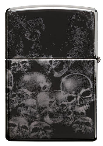 Sons of Anarchy Black Ice 360 design windproof lighter showing the back