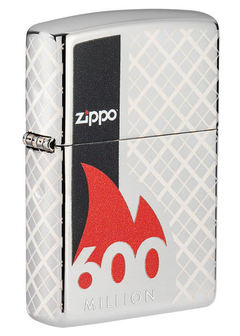 600 Millionth Zippo Lighter Collectible standing at a 3/4 angle