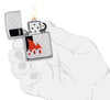 600 Millionth Zippo Lighter Collectible in hand lit
