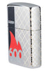 Front shot of 600 Millionth Zippo Lighter Collectible standing at an angle, showing the right side