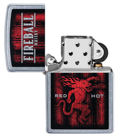 Fireball Shot Glass & Lighter Gift Set