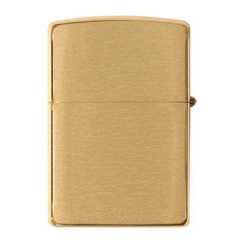 Back view of Armor® Brushed Brass Windproof Lighter