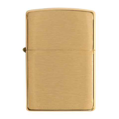 Front view of Armor® Brushed Brass Windproof Lighter