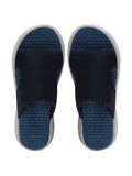 Men's Navy Blue Casual Mesh Slip-On Mesh Slider Flip-Flops