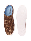 FAUSTO Men's Tan Casual Canvas Slip-On Shoes