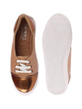 FAUSTO Women's Beige/Antique Ethnic Faux Leather Lace-Up Juttis