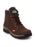 FAUSTO Men's Brown Casual Synthetic Lace-Up Boots