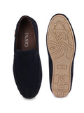 FAUSTO Men's Blue Casual Suede Slip-On Loafers