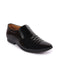 FAUSTO Men's Black Casual Patent Leather Slip-On Loafers