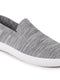 FAUSTO Men's Grey Casual Knitted Soft Fabric Slip-On Shoes