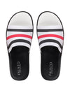 FAUSTO Men's Black/Red Casual Synthetic Slip-On Flip-Flops