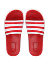 FAUSTO Men's Red Casual PU Slip-On Flip-Flops