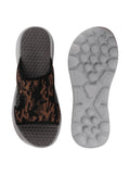 FAUSTO Men's Army Casual Mesh Slip-On Army Print Slider Flip-Flops