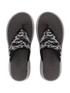 FAUSTO Men's Grey Casual Mesh Slip-On Printed Mesh Thong Flip-Flops