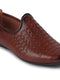 FAUSTO Men's Tan Ethnic PU Slip-On Round Toe Jutis & Mojaris