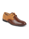 FAUSTO Men's Tan Formal Leather Lace Up Oxford Shoes with TPR Welted Sole
