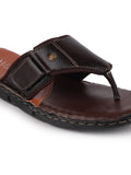 FAUSTO Men's Brown Casual Synthetic Slip-On Slippers