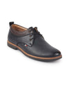 FAUSTO Men's Navy Blue Formal Lace Up Oxford Shoes with TPR Welted Sole