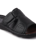 FAUSTO Men's Black Formal Leather Slip-On Dress Slip-On Slippers