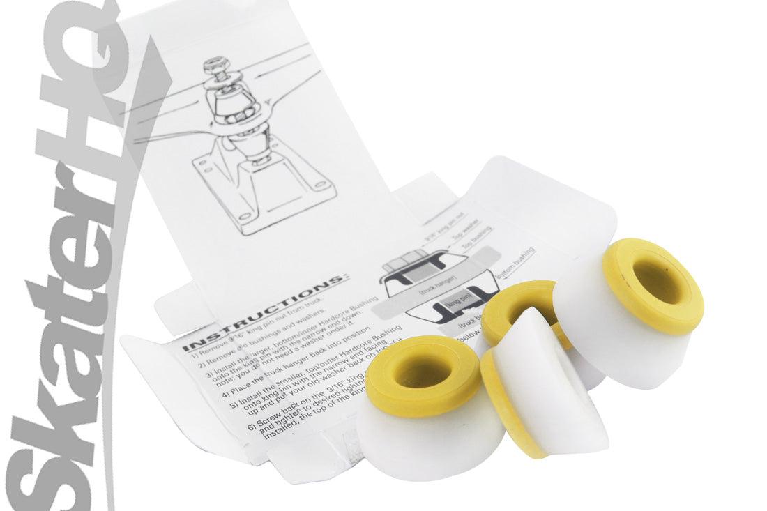 Bones Hardcore Medium Bushings 4pk - White/Yellow
