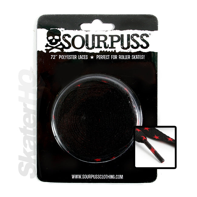 Sourpuss Star Laces - Red