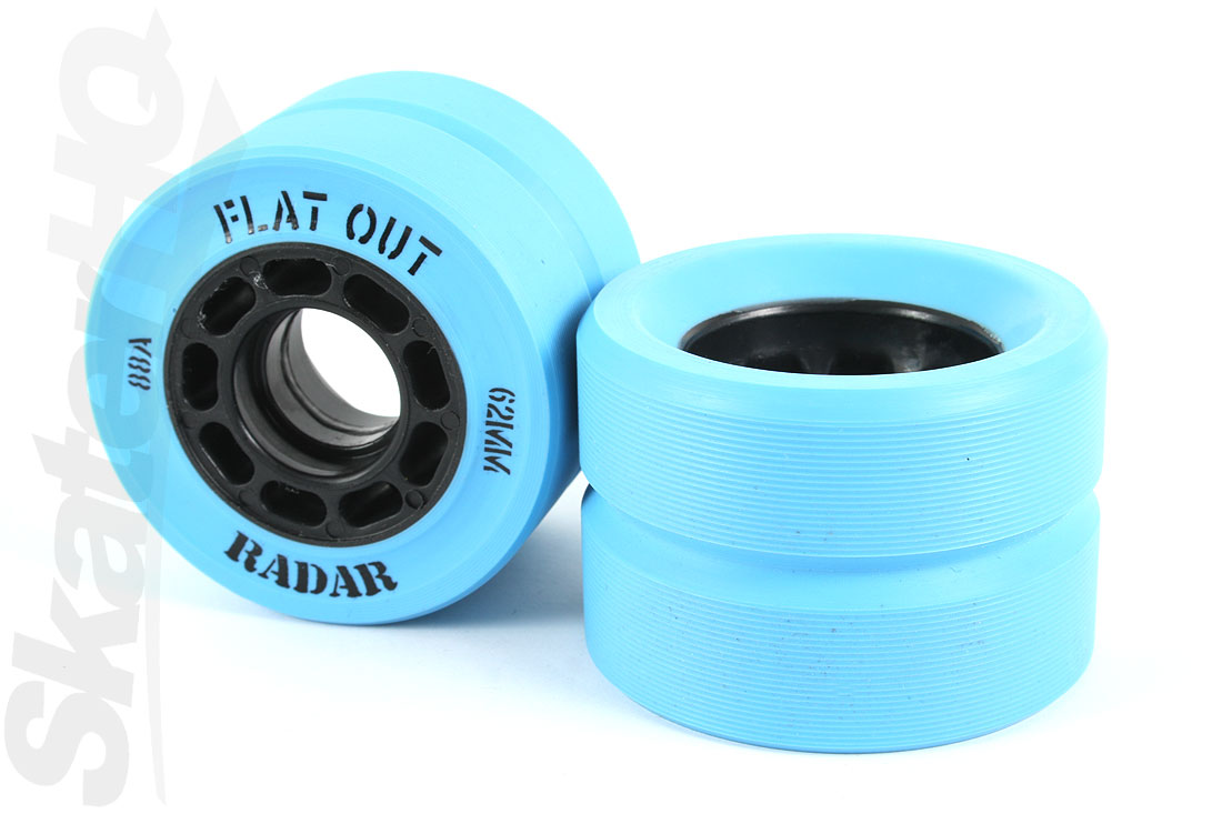 Radar Flat Out 62mm/88A Blue - 8pk