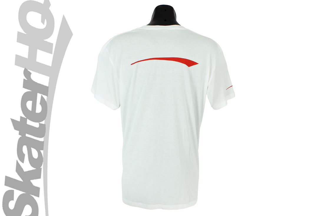 Skater HQ Swoosh Tee White - Small