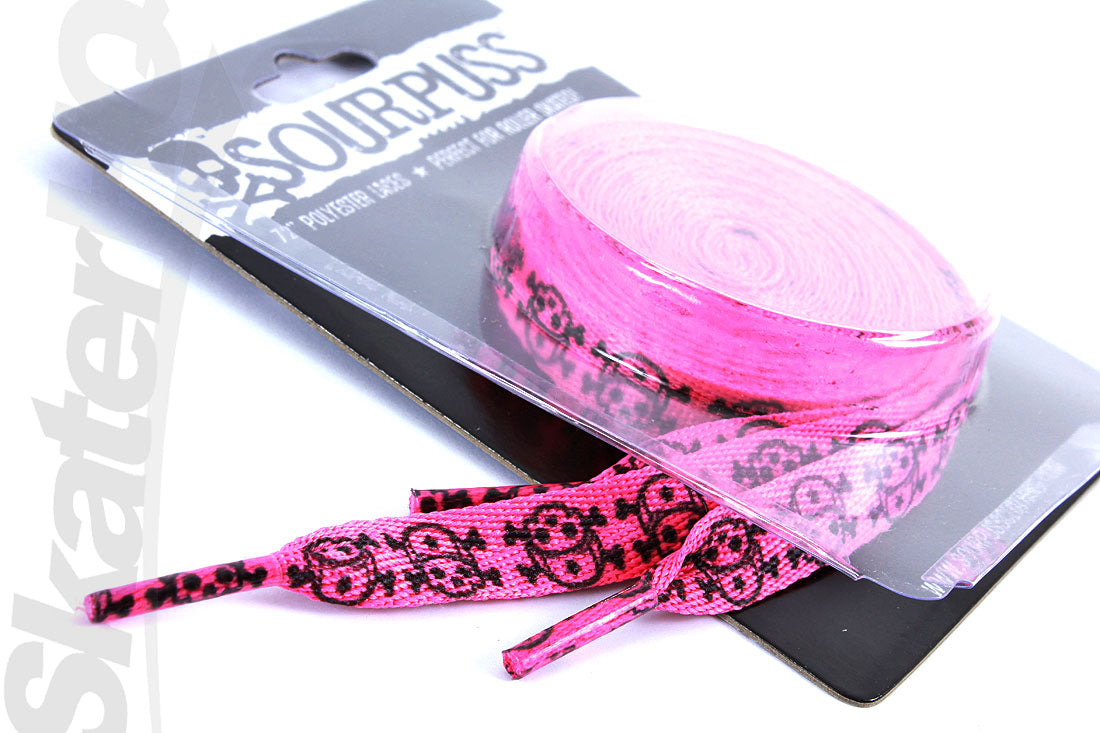 Sourpuss Skull Laces Pink