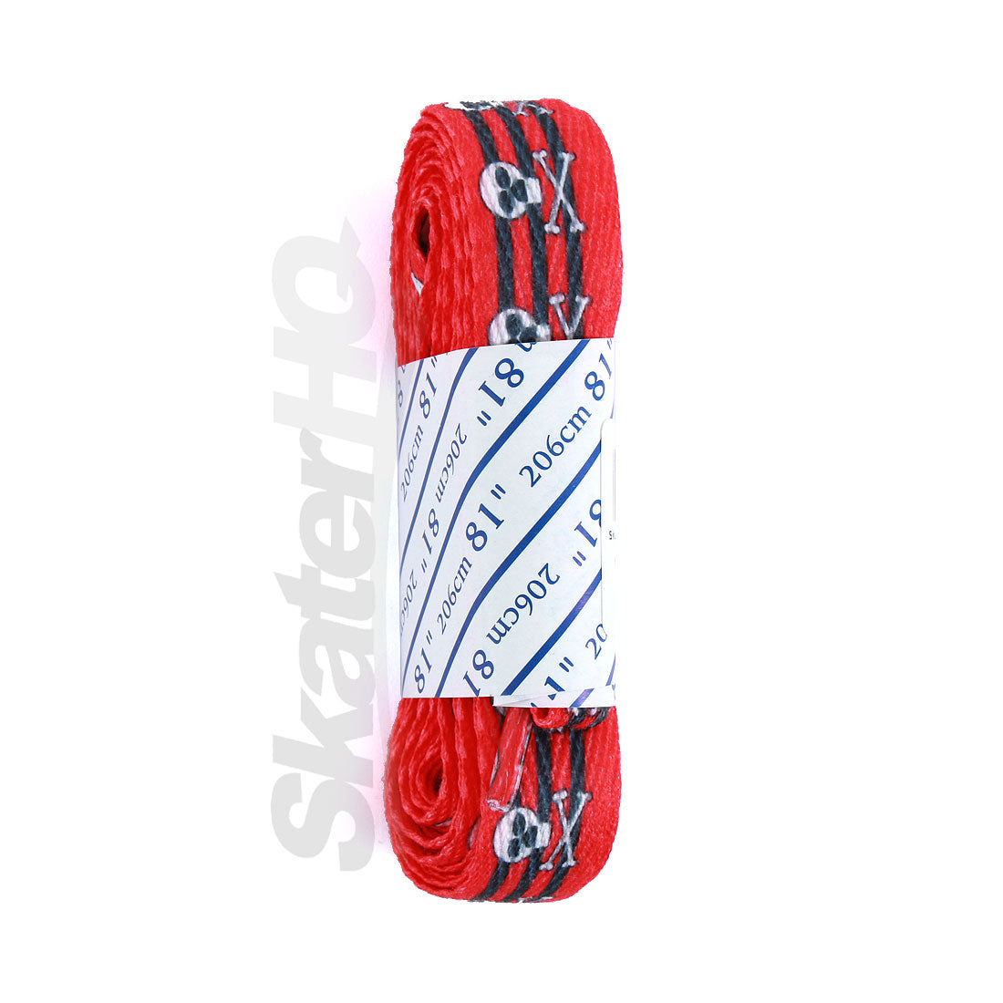 Skull Crossbone Laces Red 81in