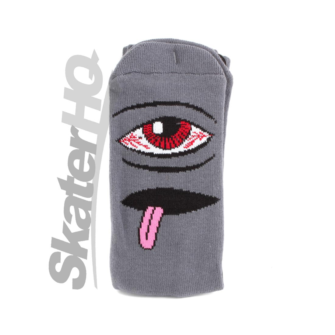 Toy Machine Sect Bloodshot Grey Crew Sock