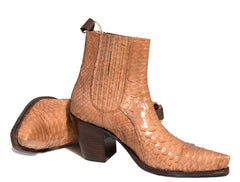 Python Tan Ankle Boot