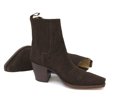 Virgi Chocolate Suede Ankle Boot