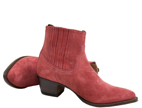 Red Suede Ankle Boot