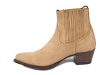 Natural Suede Ankle Boot