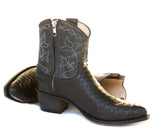 Black Python Short Boot