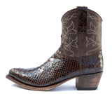 Brown Python Short Boot